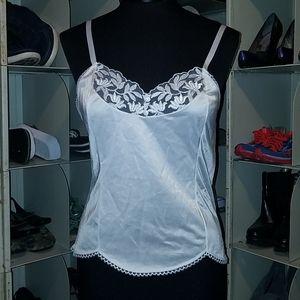 Vanity Fair white cami top slip size 34